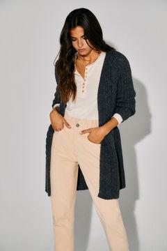 Cortefiel Sustainable jacket with belt Dark gray