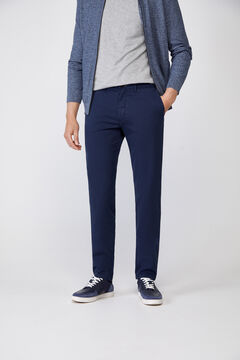 Cortefiel Essential slim fit lightweight chinos Navy