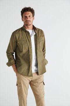 Cortefiel Garment-dyed utility over garment Khaki