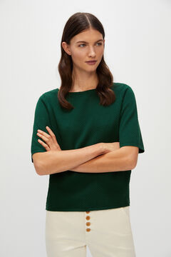 Cortefiel Organic cotton jumper Pistachio green