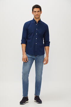Cortefiel Slim fit light wash jeans  Blue