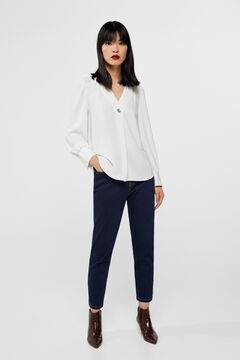 Cortefiel Mom fit jeans Royal blue