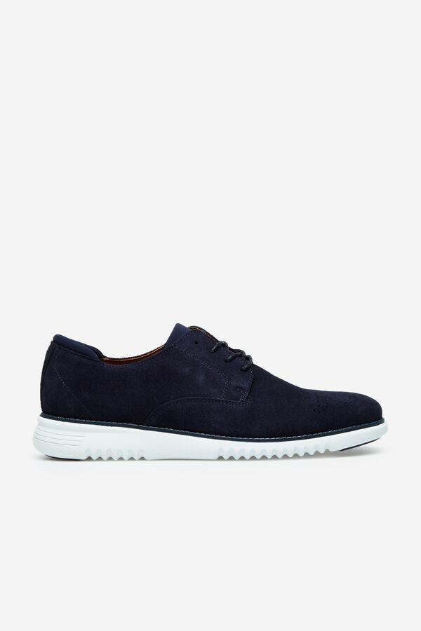 b4943b2d7e068 Cortefiel Zapato cordones piso goma Azul · Comprar
