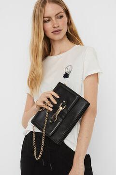 Cortefiel Crossbody bag Black