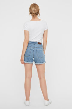 Cortefiel Short Denim Azul