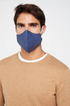 Cortefiel Máscara higiénica reutilizável Azul