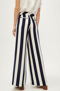 Cortefiel Striped palazzo trousers Blue