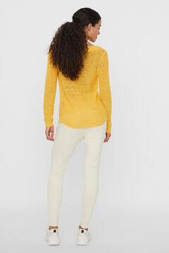 Cortefiel Knit jumper Yellow