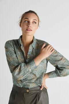 Cortefiel Camisa algodón orgánico Verde
