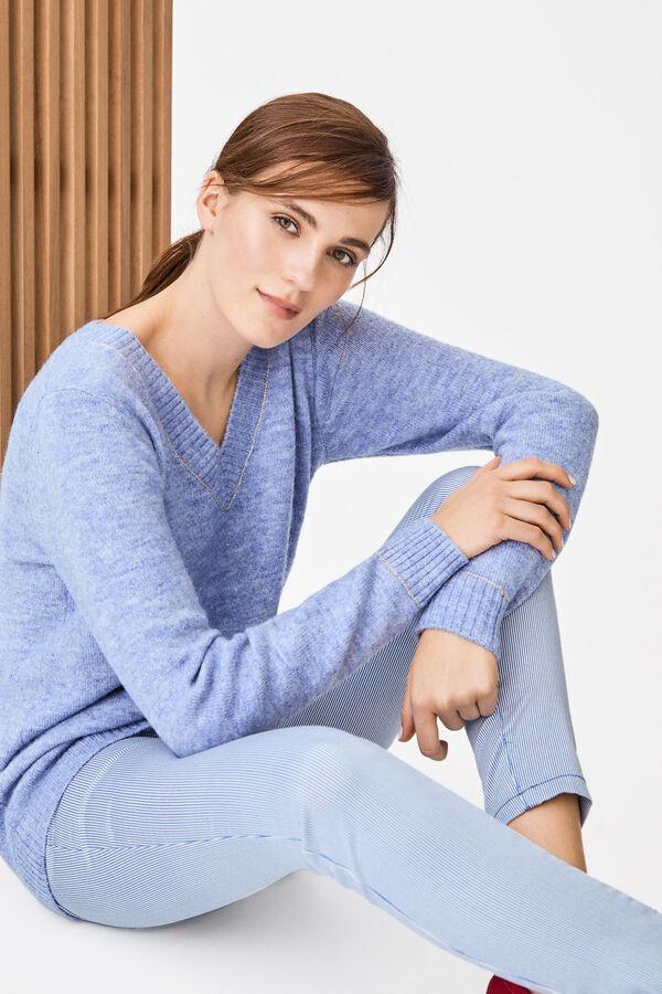 Cortefiel Jersey detalle lúrex Azul · Comprar 633544a9c765