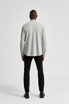 Cortefiel Sustainable plain shirt Gray