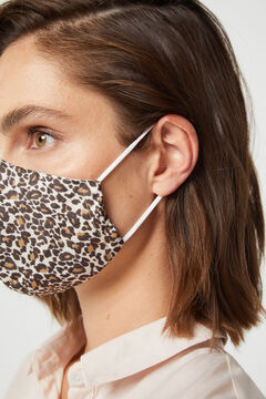 Cortefiel Máscara estampada leopardo Beige