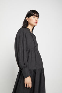 Cortefiel Fluid shirt dress Gray