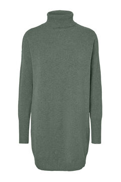 Cortefiel Jersey-knit dress Pistachio green