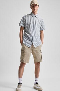 Cortefiel Cargo Bermuda shorts Stone