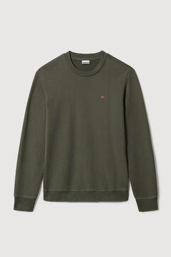 Cortefiel Napapijri BALIS HOOD round neck sweatshirt Green