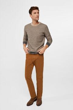 Cortefiel Regular fit coloured jeans Vanilla