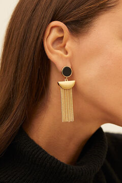 Cortefiel Long pendant earrings Black