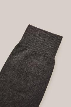 Cortefiel 2-pack plain socks Dark gray