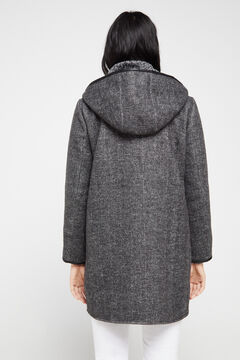Cortefiel Dual fabric coat Gray