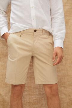 Cortefiel Bermuda estilo chino básica lisa color Beige