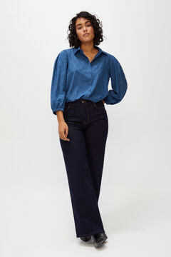 Cortefiel Metallic polka-dot shirt Blue