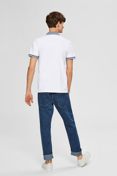 Cortefiel Polo manga corta Blanco
