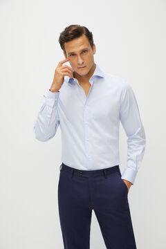 Cortefiel Plain, classic fit dress shirt Light blue