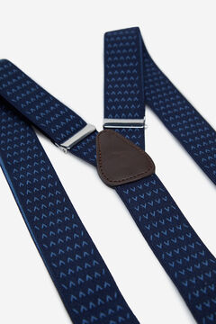 Cortefiel Stretch micro pattern braces Navy
