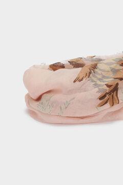 Cortefiel Floral print scarf Pink