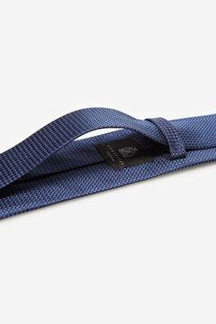 Cortefiel Textured micro polka-dot tie Navy