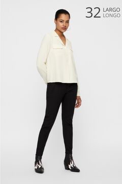 Cortefiel Slim fit trousers Black