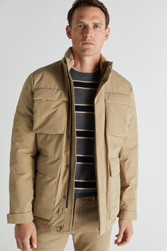 Cortefiel Jacket with four pockets Camel