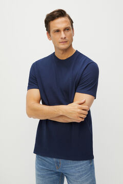 Cortefiel Short-sleeved T-shirt Turquoise
