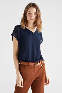 Cortefiel Combined sleeveless top Navy