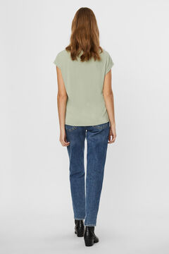 Cortefiel Flowing T-shirt Gray