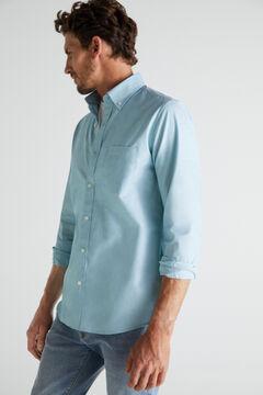 Cortefiel Plain extra soft cotton easy care shirt Gray