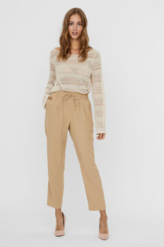 Cortefiel Ankle-length trousers Tobaco