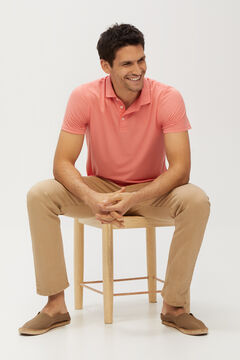 Cortefiel Short-sleeved polo shirt Orange
