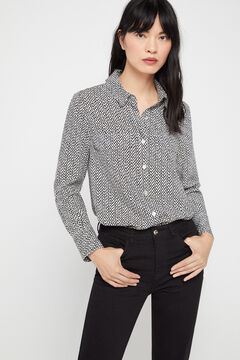 Cortefiel Shirt with pockets Ecru