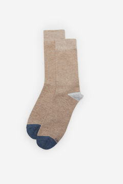 Cortefiel Plain sports socks Beige