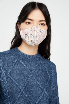 Cortefiel Reusable paisley face mask Lilac