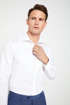 Cortefiel Camisa vestir stretch slim fit Blanco