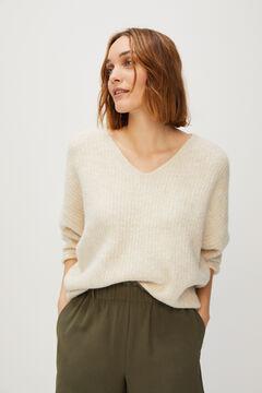 Cortefiel Knit jumper Stone