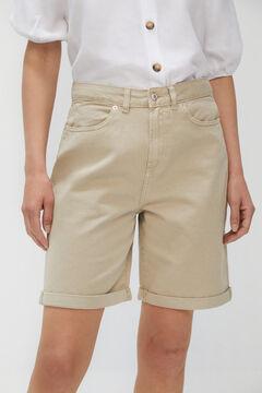 Cortefiel Bermuda Jeans fluída Beige