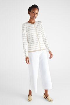 Cortefiel Two-tone striped jacket Mink