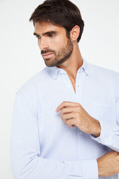 Cortefiel Long-sleeved shirt Blue