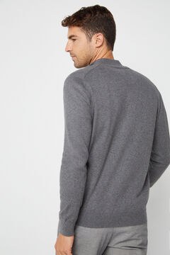 Cortefiel Zip up cardigan Gray