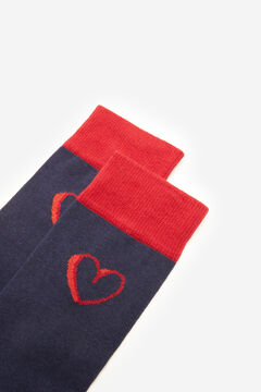 Cortefiel Heart motifs socks Navy