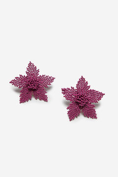 Cortefiel Flower earrings Pink